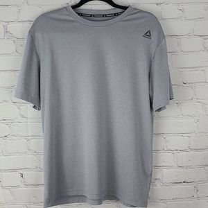 Reebok Gray Short Sleeve Tshirt Size Medium